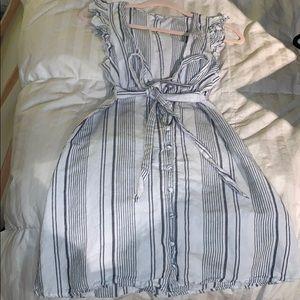 cute blue & white striped dress!